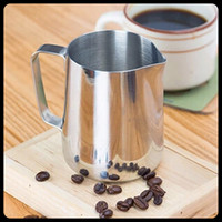 Wholesale 150 ML Coffee Tea Tools Coffee Frothing Milk Latte Jug Fancy Coffee Foam Cup Pitcher Stainless Steel Office Coffee Supplies