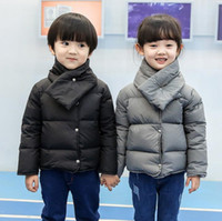 Wholesale Children s down jacket thin paragraph new boys and girls short small and medium sized baby winter coat