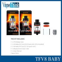 Wholesale Original Smok TFV8 Baby ml Capacity Black Silver Micro TFV8 Atomizer Fit Xcube Ultra Mod From Vapethink