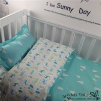 baby down duvet - Cute crib bed linen baby bedding set include pillow case bed sheet duvet cover without filling ER359