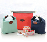 Wholesale colors Outdoor Lunch Bag Picnic bag Iconic Lunch Pouch Carry Tote Container Warmer Cooler Bag Nylon Storage Bags
