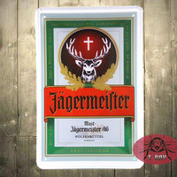 Wholesale JAGERMEISTER JAGER BOMB TIN METAL ADVERTISING WALL BAR SIGN A
