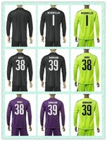 Wholesale Customize Uniforms Kits Soccer Jersey Borussia Dortmund Weidenfeller Burki Black Green Purple Goalkeeper Long Sleeve Jerseys