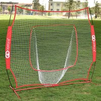 Wholesale 7x7 Baseball Softball Practice Hitting Batting Training Net Bow Frame Red Bag