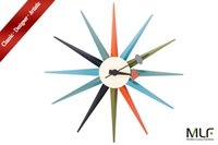 Wholesale MLF reg Sunburst Clock in Multicolor George Nelson Designed Antique Retro Wall Clock All Nelson Series Available