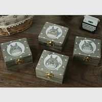 Wholesale My neighbor totoro clockwork music box The city of the sky Creative gifts Wooden crafts Delicate and special design quality assured