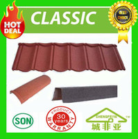 Wholesale chengfeiya brand name top grade quality stone coated metal roof tile years warranty