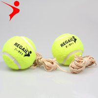 Wholesale 2016 hot sale Tennis Balls With Rope Training Tennis Rubber Rope Tennis Single Training For a beginner