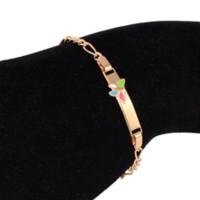 baby bracelete - 16cm Baby Bracelets Pulsera Bebe Kids Jewelry Bracelet Gold Bangles Ouro K Bracelete Nina Armband Braclet Teens Child BR31M2