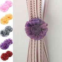 Wholesale High Quality pc Rose Flower Tie Backs Holdbacks Holders For Voile Net Curtain Panels