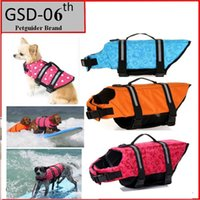 Wholesale Pet Dog Save Life Jacket Safety Clothes Life Vest Outward Saver Pet Dog Swimming Preserver Large Dog Clothes Summer Swimwear F733