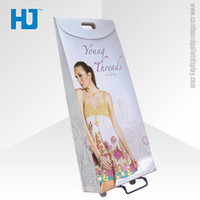 advertising designs - Custom design recyclable green paper trolley bag for advertising