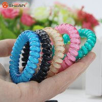 Wholesale Fashion Cute Candy Color Hair Jewelry Headbands Telephone Line Hair Rope for Women Hair Band