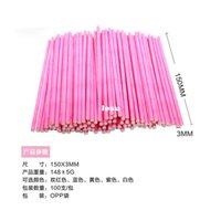 Wholesale 100 Colorful Lollipop Stick CM Papen Cake Pop Sticks for Lollypop Lollipop Candy Chocolate Sugar Cudgel Pole Handle Rod