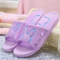 Wholesale 2016 hot style of the four seasons general bathroom slippers cool rabbit couple household indoor slippers antiskid leaking slippers