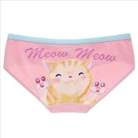 Wholesale Little Pink Underwear - Wholesale-Underwear Women Cotton Cute Little Kitty Low Waist Printing Meow Cat Panty Ladies Panties Girls Pink Breathable Pussy Briefs M,L