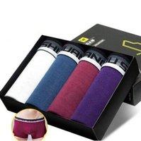 Wholesale 10 OFF pieces underwear men size L XXXL sexy cotton boxers men boxer soft and breathable men underwear hfx