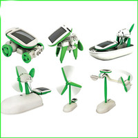 Wholesale 6 In DIY Creative Robot Toy Power Solar Transformation Robot Toy Magic Transform Solar Battery Power Educational Learning Toy
