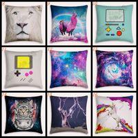 anime pillow covers - 10pcs LJJL126 Home Decor Pillow Case Sofa Cushion Covers Pillowslip Cartoon Anime Printed Vintage Cute Throw Cushion Cover