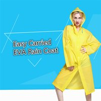 Wholesale New Easy Carried Rain Coat Wind Coat EVA Women s Hooded Raincoat Waterproof Transparent Poncho Hiking B0487
