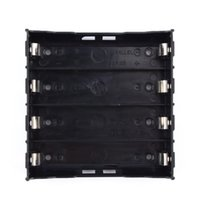 Wholesale 4x18650 Li ion Battery Storage Plastic Clip Holder Case Box Pin Contact Black V V Battery Storage Boxes