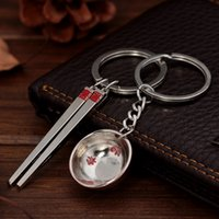 Wholesale 2016 New Hot Sale Creative Tableware Couple Keychain Mini Pendant Harvest Lover Romantic Birthday Gift Car Keychain By DHL