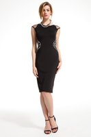 atmospheric perspective - slim dress diamond OL commuter perspective dress Jewel Lace Simple Atmospheric Dresses Mesh Cover Shoulder