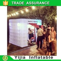 Wholesale high quality lighting inflatable cabin photo booth props