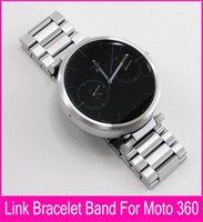Wholesale Original Refined craftsmanship for MOTO watch band Strap mm black Stainless Steel Watchbands for Motorola Smart Watch