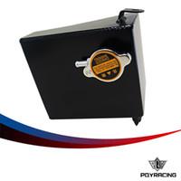 Wholesale PQY RACING BLACK Aluminum Coolant Overflow Tank Reservoir Kit For SX S13 SR20DET KA24DE KA24E KA24 Fits SX PQY TK47BK