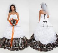 ball elastic - Plus Size Camo Wedding Dresses Strapless Pick Up Elastic Satin Custom Made Corset Lace Up Ball Gown Wedding Dresses Chapel Bridal Dresses