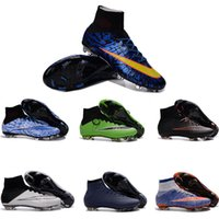 Wholesale 2016Men CR7 Superfly fG Soccer cleats outDooR turf Magista fOOtbAlL BoOTs High Ankle Soccer Boots indoor SoCCer Shoes Cheap Soccer Cleats