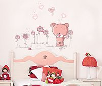 bathroom wall pictures - Teddy Bear Wall Sticker Child Role of Children s Diy Adhesive Art Mural Picture Poster Removable Wallpaper