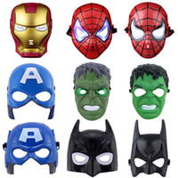 batman red mask - Superhero Halloween Mask Kids Spiderman Iron Man Hulk Batman Party Masks The Avengers Mask for Children s Day Cosplay