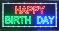 Wholesale 20pcs Led happy birth day sign direct selling custom graphics X19 inch indoor Neon lighted Sign