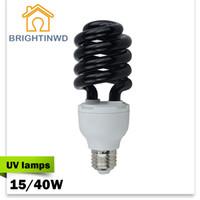 Wholesale UV Lamps Violet Light Black Light Germicidal Lamp Household Sterilization Lamp Spiral Light Disinfection