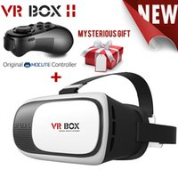 Wholesale HOT Google cardboard VR BOX II Version VR Virtual Reality D Glasses For inch Smart phone Bluetooth Controller
