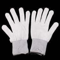 Wholesale 100pair mode LED finger gloves light lighting flashing Rave toy Dance party black white paillette