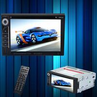 al por mayor reproductor de vídeo vcd-6.2 pulgadas de pantalla táctil doble din Audio Video coche DVD VCD MP5 MP4 reproductor multimedia MP3 Soporte Bluetoot transmisor FM con control remoto