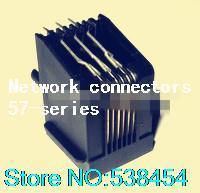 Wholesale RJ11 phone jack P6C L horizontal curved plug