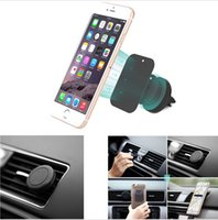 Wholesale Universal Magnetic Air Vent Outlet Car cell Phone Holder Mount Cradle Suporte Celular Carro For Samsung Galaxy S7 Edge LG G3 G4 G5