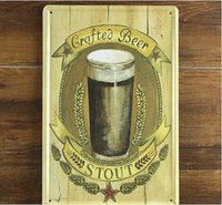 beer stout - STOUT BEER Creative tin posters cm Wall Stickers decorative sheet metal painting decorative crafts and gifts