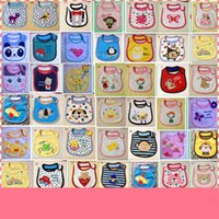 Wholesale Baby products baby cartoon style bib Three layers of cotton waterproof saliva towel Burp Cloths