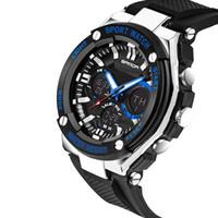belt with stones - Sanda Men s Sport Watches Fashion Watch Waterproof M Luxury Analog Digital Watch Military Watches Swimming Diving Hand Clock Montre