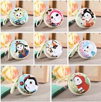 Wholesale Korean Cat Cartoon - cartoon cat zipper mustache Tinplate Coin Purses Cat Earphone bag Headphone Box Bag cartoon Storage Case