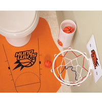 Wholesale New Arrivel Slam Dunk Toilet Basketball Bathroom Rug Home Decor Gag Gift Novelty Fun Basket
