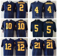 michigan - Michigan Wolverines Football Jerseys College Tom Brady Charles Woodson Jim Harbaugh Jabrill Peppers Alternate Navy Blue