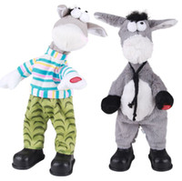 Wholesale Plush electric donkey shook his head several optional may return to sing and dance