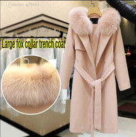 Wholesale new high quality windbreaker jacket in the spring and autumn han edition coat fox collars coat Wool coat of cultivate one s morality