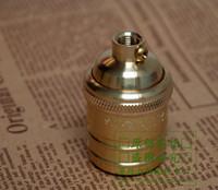 antique brass sockets - Antique Retro E26 E27 socket Holder copper brass lamp Brass Lamp holders Bases for DIY lighting lamps accessories